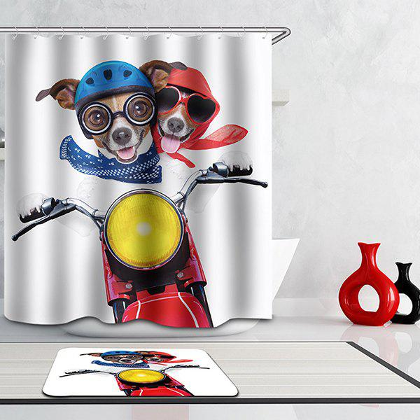 Hot Selling Bathroom Puppy Pattern Waterproof Shower Curtain - COLORMIX