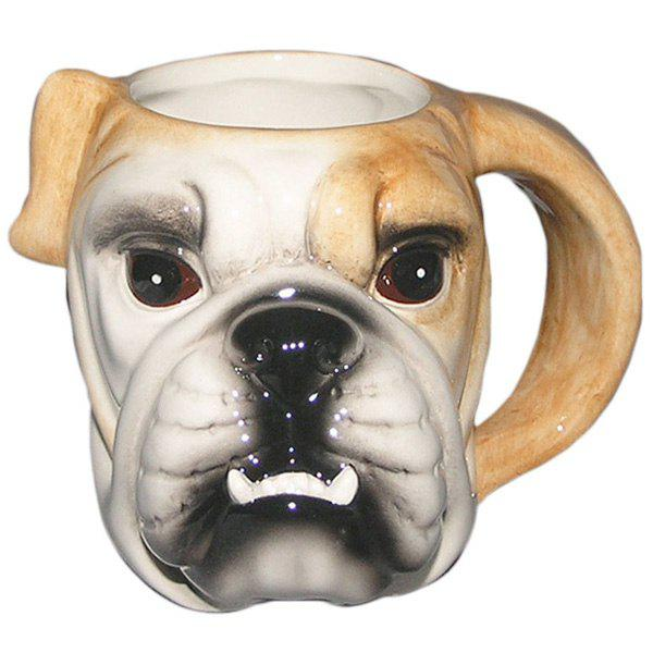 Creative 3D Colored Drawing Puppy Pattern Ceram Mug - EARTHY