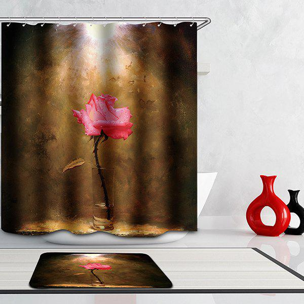 Thicken Mouldproof Bathroom Flower Pattern Waterproof Shower Curtain thicken bathroom overlooking earth pattern waterproof shower curtain
