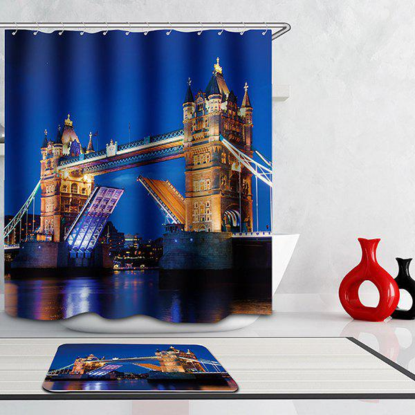 High Quality Bathroom London Bridge Pattern Waterproof Shower Curtain - COLORMIX