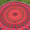 Bohemian Colorful Tassel Indian Mandala Wall Hanging Yoga Mat Gypsy Cotton Tablecloth Red Round Beach Throw - RED