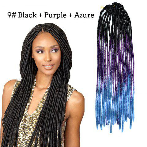 Stunning Three Color Gradient Synthetic Braids Dreadlock Hair Extension For Women - 09