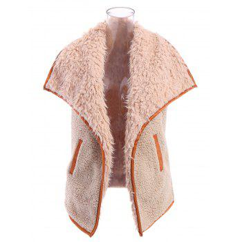 Stylish Women's Faux Fur Collar Letter Pattern Waistcoat