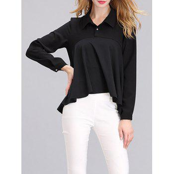 Western Style Draped Asymmetrical Blouse