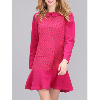 Elegant Women's Polka Dot Long Sleeves Fishtail Dress