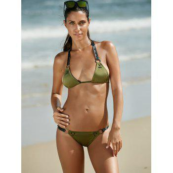 Charming Halter Alloy Ring Design Bikini