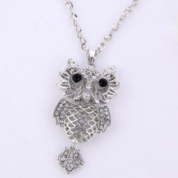 Hollow Out Owl Pendant Necklace