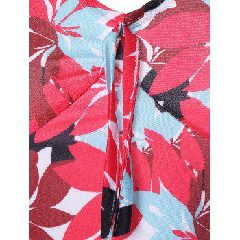 Halter Hawaiian Tankini with Padded Cups - RED XL