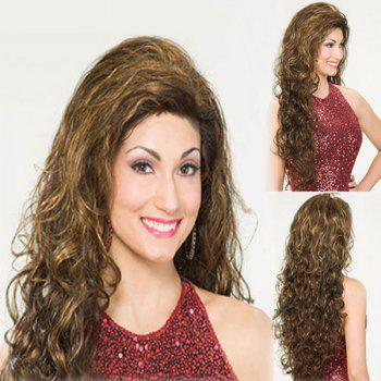 Elegant Women's Long Curly Mixed Color Synthetic Hair Wig