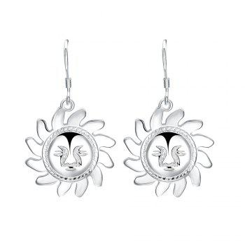 Pair of Smiling Face Sun Drop Earrings