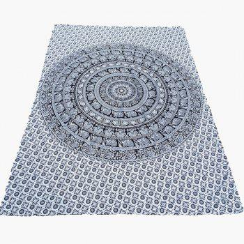Ethnic Style Indian Elephant Totem Yoga Mat Gypsy Cotton Tablecloth Beach Throw Scarf