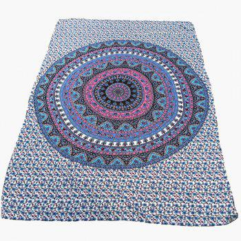 Ethnic Style Blue Arab Totem Yoga Mat Gypsy Cotton Tablecloth Beach Throw Shawl Wrap Scarf