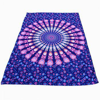 Ethnic Style Light Purple Mandala Yoga Mat Gypsy Cotton Tablecloth Beach Throw Shawl Wrap Scarf