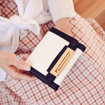 Stylish PU Leather and Color Splicing Design Women's Wallet
