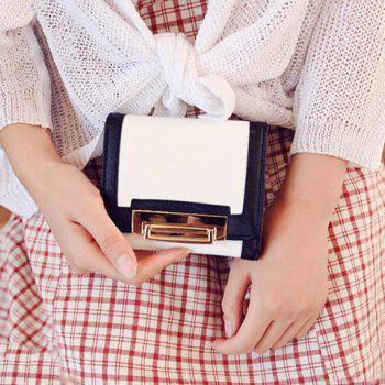 Stylish PU Leather and Color Splicing Design Women's Wallet - WHITE