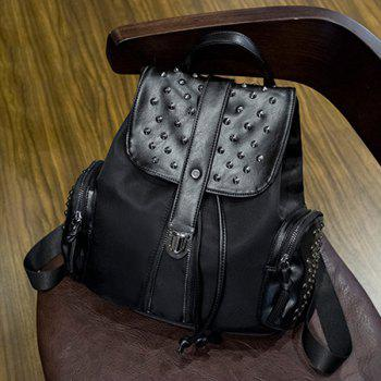 Stylish Black Colour and Splicing Design Women's Backpack