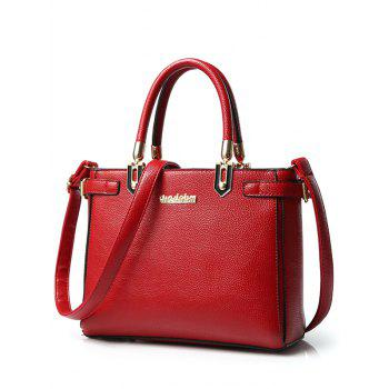 Charming Letter and Solid Color Design Women's Tote Bag