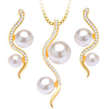 Faux Pearl Snake Necklace and Earrings