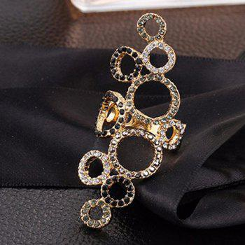 Chic Emboss Rhinestone Beads Circle Ring For Women