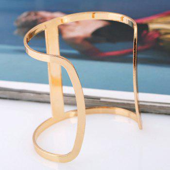 Vintage Hollow Out Alloy Cuff Bracelet For Women - GOLDEN