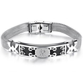 Mesh Gemini Lucky Star Sign Bracelet