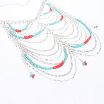 Bohemia Multilayered Beads Anklet -  SILVER