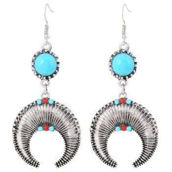 Pair of Moon Beads Drop Earrings