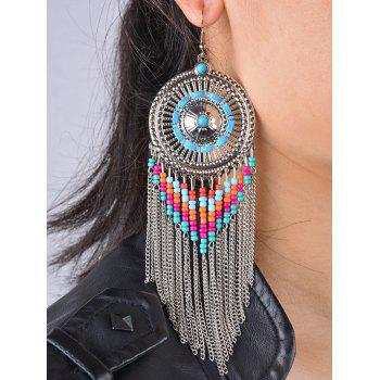 Bohemian Bead Fringed Earrings