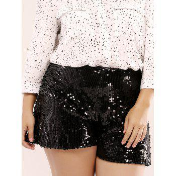 Fashionable Plus Size Sequined Wide Leg Culotte