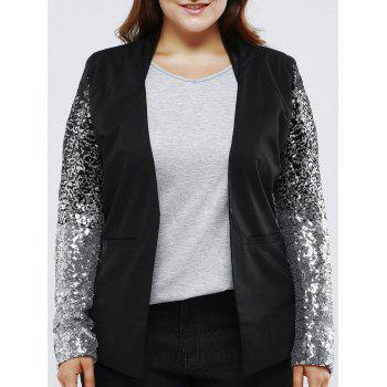 Plus Size Chic Sequined Sleeve Blazer