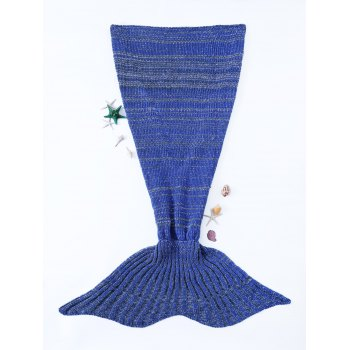 Chic Quality Warmth Crochet Knitted Mermaid Tail Design Blanket