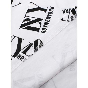 BoyNewYork Simple T-Shirt - WHITE XL