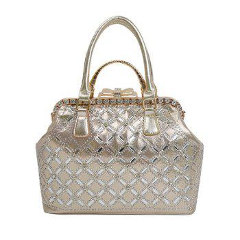 Chic Rhinestone and Bow Design Women's Tote Bag