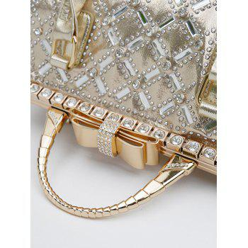 Chic Rhinestone and Bow Design Women's Tote Bag - GOLDEN