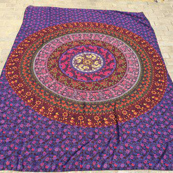 Ethnic Style Red Totem Yoga Mat Gypsy Cotton Tablecloth Beach Throw Shawl Wrap Scarf - RED