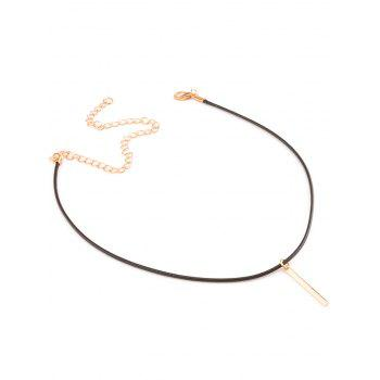 Alloy Metal Bar Choker Necklace