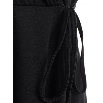 V-Neck femmes sexy sans manches Mini robe Backless - Noir M