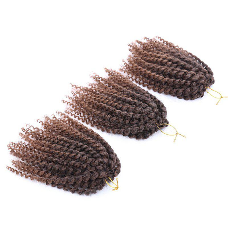 Fashion 3Pcs Synthetic Women's Mixed Color Short Curly Braid Hair Extension - COLORMIX