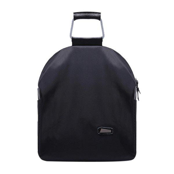 Fashion Zipper and Black Design Women's Backpack -  BLACK