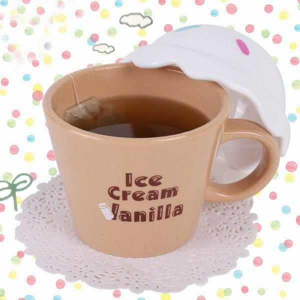 Unique Design Cartoon Ice Cream Cup - WHITE