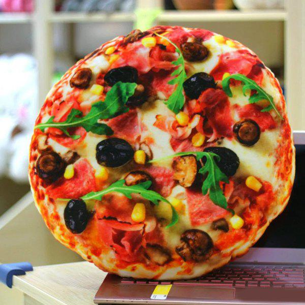 Cute 3D Fast Food Pizza Design Home Office Necessary Velboa Doll Pillow