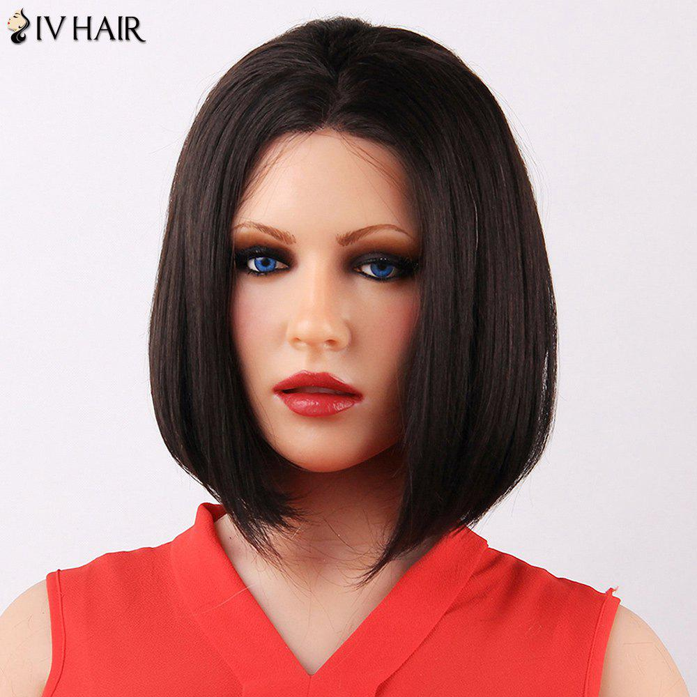 Attractive Middle Part Medium Straight Siv Human Hair Capless Wig For Women от Dresslily.com INT