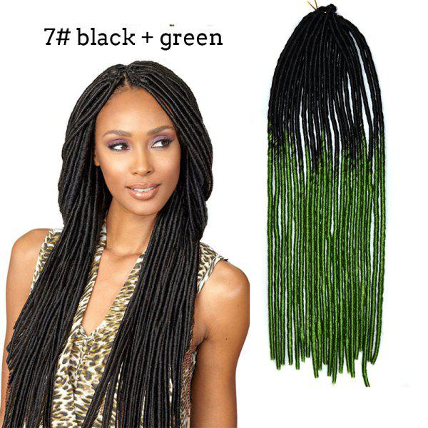 Stylish Heat Resistant Synthetic Two-Tone Ombre Dreadlock Hair Extension For Women