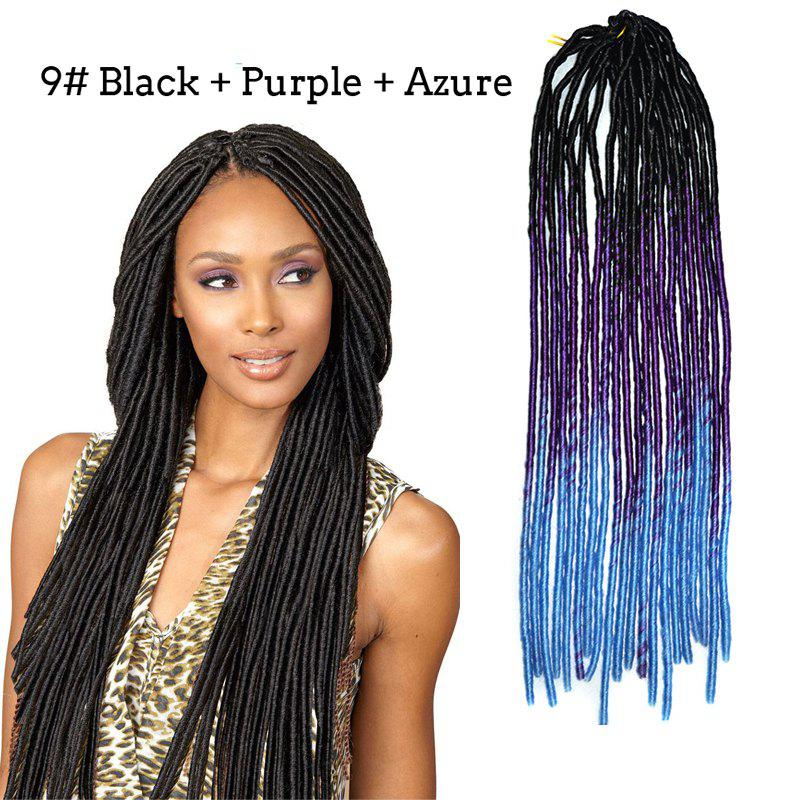 Stunning Three Color Gradient Synthetic Braids Dreadlock Hair Extension For Women -