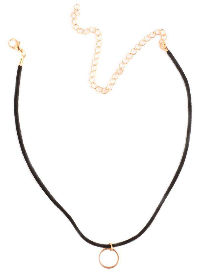 Circle Alloy Choker Necklace - GOLDEN