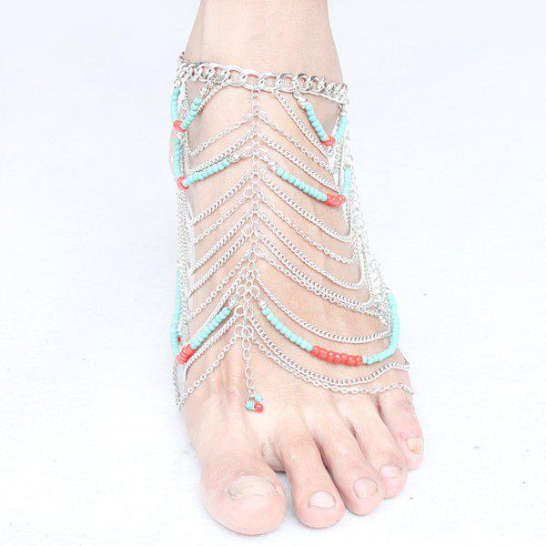 Delicate Multilayered Beads Anklet For Women