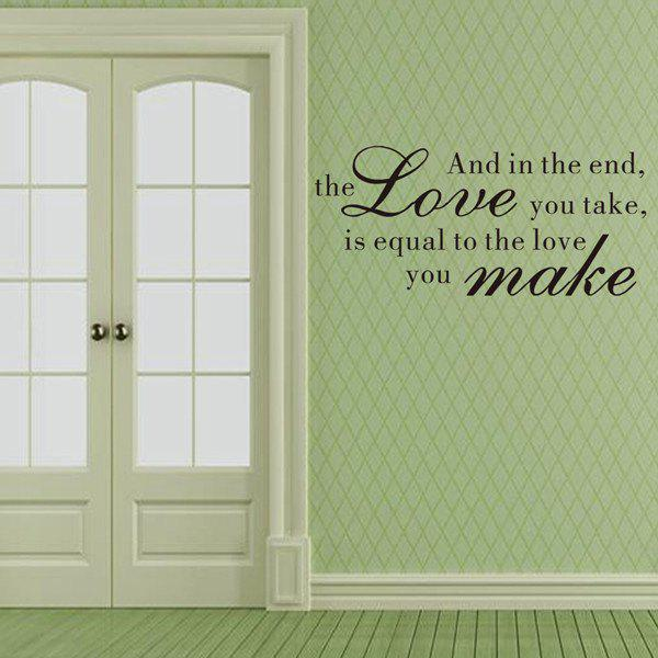 Stylish Waterproof DIY Bible Love Proverbs Pattern Wall Sticker - BLACK