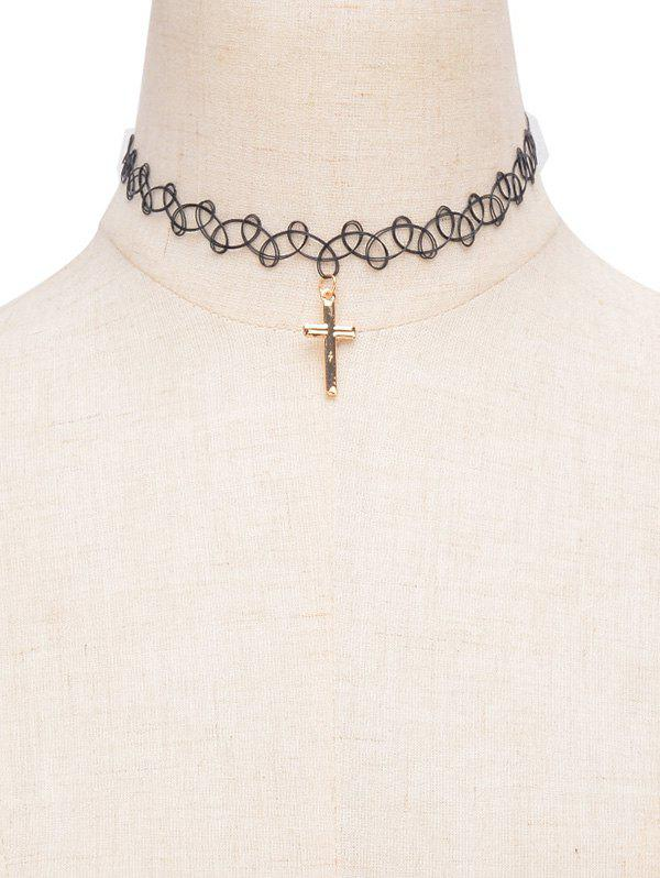 Cross Alloy Choker Necklace