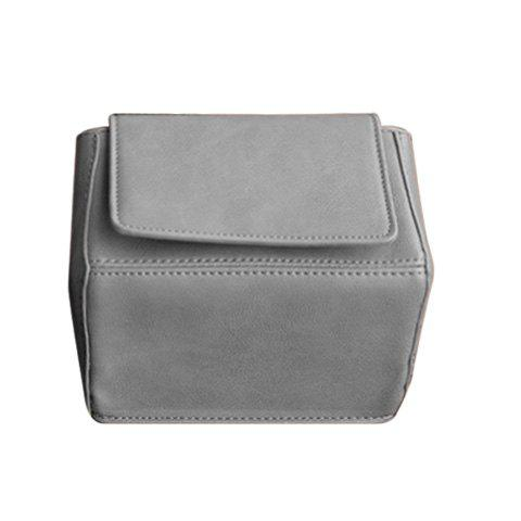 Cute Solid Colour and Magnetic Closure Design Women's Crossbody Bag - GRAY