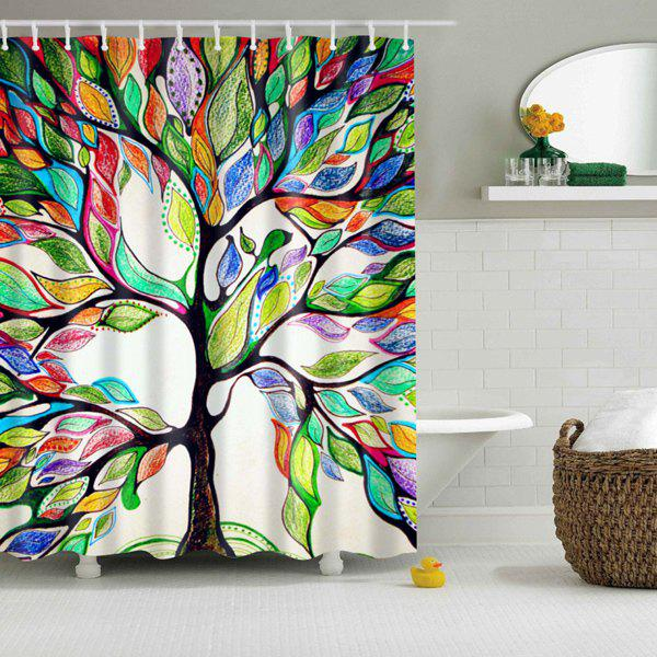 Simple Colorful Shower Curtain Of Life Print Waterproof A Inside Ideas